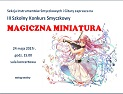 III Szkolny Konkurs Smyczkowy MAGICZNA MINIATURA